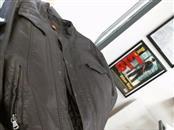 PERRY ELLIS Coat/Jacket BROWN LEATHER JACKET